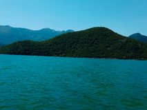 Majestätisk Skadar sjö Montenegro arkivbilder