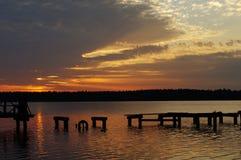 majestätisk solnedgång i natur Fotografering för Bildbyråer