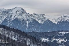 Majestätiska Bucegi berg Arkivbilder