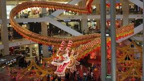 Majestätiska 600 ft lång drakeskärm på paviljongen Kuala Lumpur Malaysia royaltyfri bild