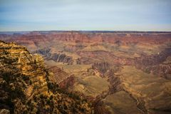 Majestätiska Grand Canyon, Arizona, Förenta staterna Fotografering för Bildbyråer