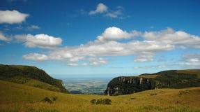 Majestätiska kanjoner i Serra Geral National Park Arkivfoton