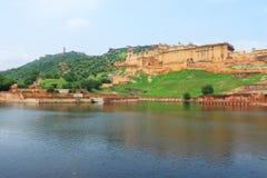 Majestätiskt amer fort jaipur Indien Arkivfoto
