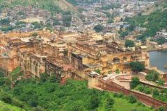 Majestätiskt amer fort jaipur Indien Arkivfoton