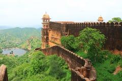 Majestätiskt amer fort jaipur Indien Arkivbild