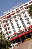 Majestätiskt Barriere lyxigt hotell - CANNES Arkivfoton