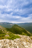 Majestätiskt berg i Grandet Canyon royaltyfri bild