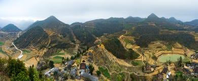 Majestätiskt berglandskap för natur i Ha Giang, Vietnam Arkivfoto
