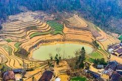 Majestätiskt berglandskap för natur i Ha Giang, Vietnam Arkivfoton