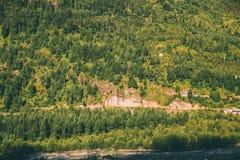 majestätiskt berglandskap med gröna träd i indier fotografering för bildbyråer