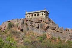 Majestätiskt Golconda fort i Hyderabad Royaltyfria Bilder