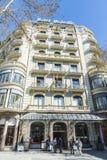 Majestätiskt hotell, Barcelona Arkivfoto