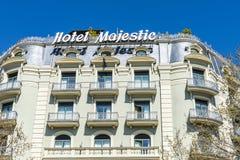 Majestätiskt hotell, Barcelona Fotografering för Bildbyråer