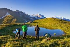 Majestätiskt landskap med de berömda Dolomitebergen, Italien Europa som bedövar landskap av naturen och den pittoreska turist- de arkivbilder