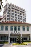 Majestätiskt slotthotell i Malacca Arkivfoton