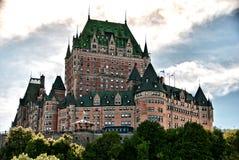 Majestad de Chateau de Frontenac, Quebec City Imagenes de archivo