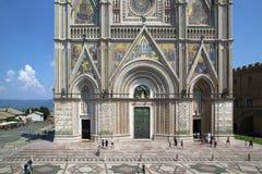 Majestad de la catedral de Orvieto, Italia fotografía de archivo libre de regalías