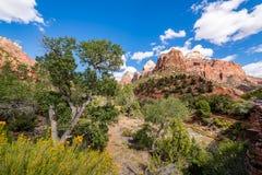 Majestat Zion park narodowy zdjęcie royalty free