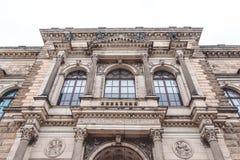 Majestatyczna antykwarska fasada Drezdeńska obrazek galeria Antyczny przyciąganie Drezdeński kapitał Saxony Obraz Stock