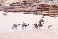 Majestatyczna góry pustynia wadiego rum w Jordania Zdjęcia Royalty Free