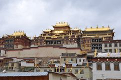 Majestatyczna i solenna Buddyjska świątynia zdjęcia royalty free