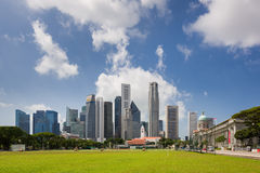 Majestatyczna Singapur linia horyzontu Zdjęcia Royalty Free