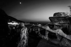 Majestatyczna wyspy nocy sceneria Obrazy Royalty Free
