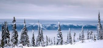 Majestatyczne misj góry Przebywają na Wschodnim brzeg Flathead jezioro obrazy royalty free