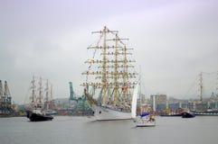 Majestatycznego statku nadmorski sceniczny widok Fotografia Royalty Free
