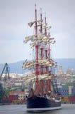 Majestatycznego statku nadmorski sceniczny widok Zdjęcie Stock