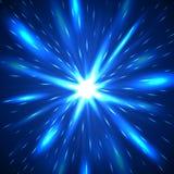Majestatyczny błękita błysku abstrakta tło ilustracja wektor
