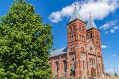 Majestatyczny kościół God& x27; s ciało w od Ikazn, Białoruś Fotografia Stock