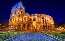 Majestatyczny kolosseum, Rzym, Włochy. fotografia royalty free