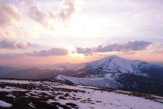Majestatyczny krajobraz z Elbrus w Kaukaz Obraz Royalty Free