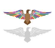 Majestatyczny orzeł z skrzydłami rozprzestrzeniającymi ilustracji