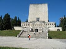 Majestatyczny pomnik dla spadać żołnierzy pierwsza wojna światowa w Ital Fotografia Royalty Free