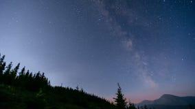 Majestatyczny ujawnienie czasu upływu strzał Milky sposobu i gwiazd galaktyka zdjęcie wideo
