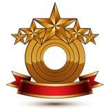 Majestatyczny wektorowy złoty pierścionek, 3d royalty ilustracja