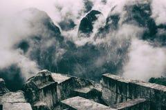 Majestatyczny widok Andes od Machu Picchu ruin Obrazy Royalty Free