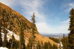Majestatyczny widok Skalistej góry park narodowy, Kolorado, usa fotografia stock