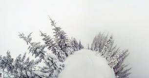 Majestatyczny zima krajobraz Zdjęcia Royalty Free