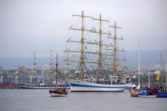 Majestatycznych statków nadmorski sceniczny widok Zdjęcie Royalty Free