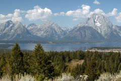 Majesteit van Grand Teton Royalty-vrije Stock Fotografie