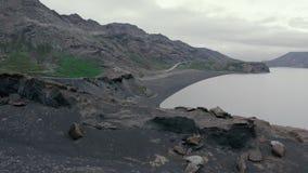 Majestic aerial flight through epic Iceland landscape stock footage