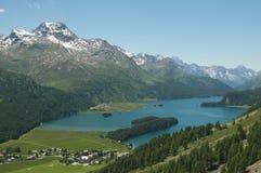 Majestic alpine landscape Stock Photos