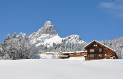 Majestic Alpine view Royalty Free Stock Images