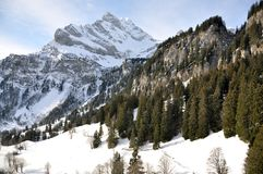 Majestic alpine view Stock Photos