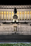 Majestic Altar of the Fatherland by night in Rome, Italy Stock Photo