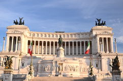 Majestic Altar of the Fatherland in sunset light in Rome, Italy Royalty Free Stock Image