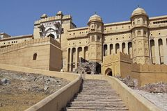 Majestic Amber Fort Stock Photos